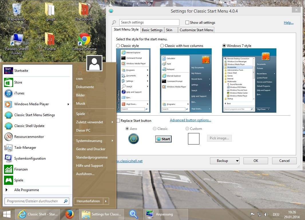 windows 8.1 klassische ansicht