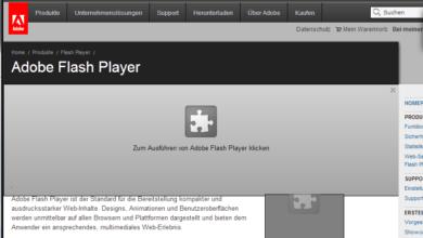 Bild von Anleitung: Flash und andere Browser-Plug-ins nur bei Bedarf aktivieren