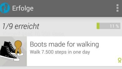 Bild von Android-Smartphone als Schrittzähler nutzen