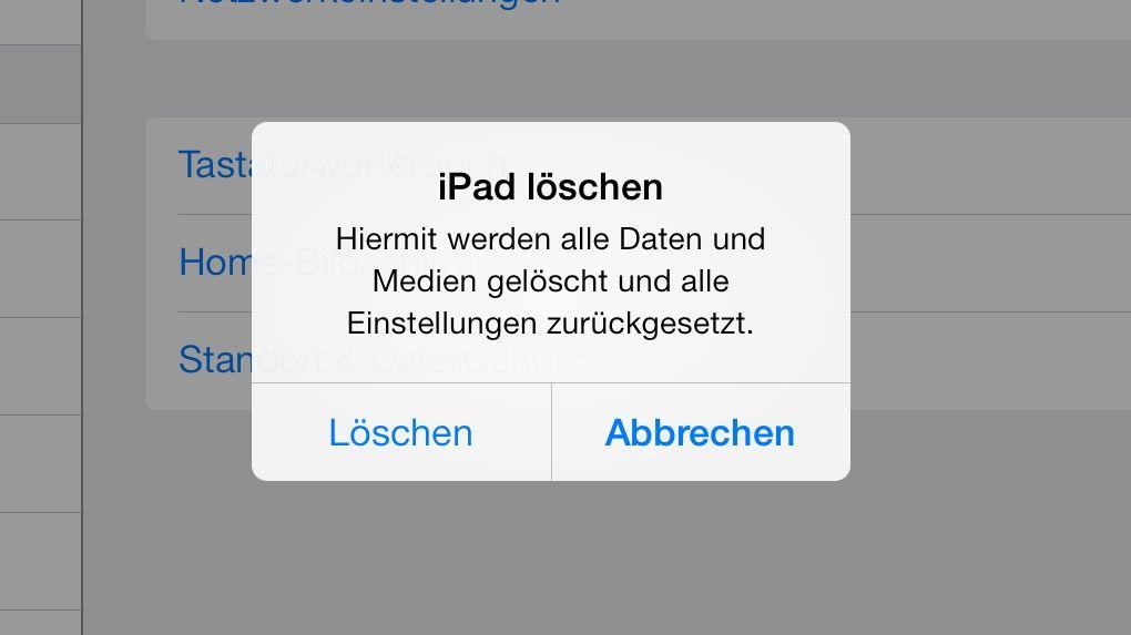 iOS 7 Wiederherstellung