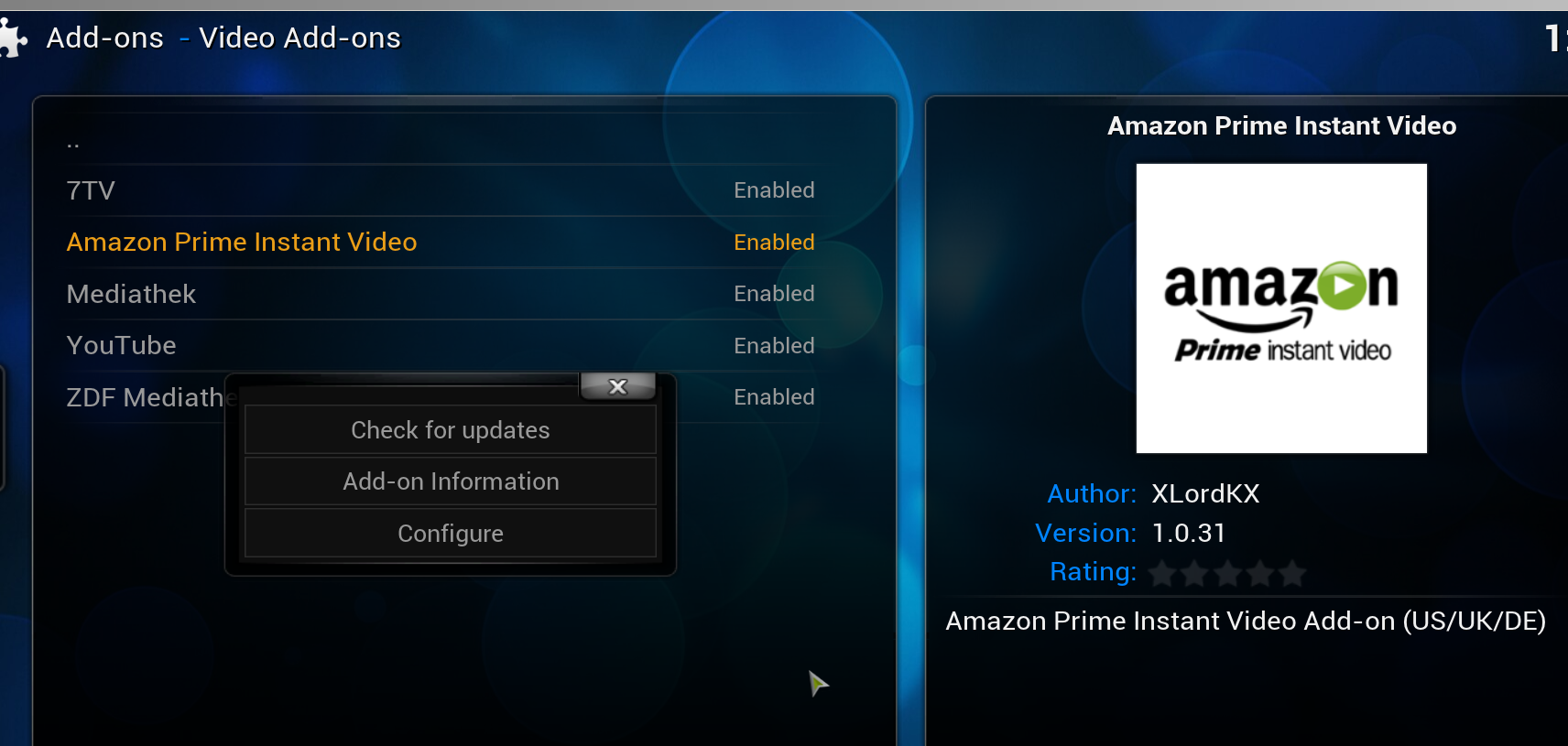 Das Add-on unter Kodi