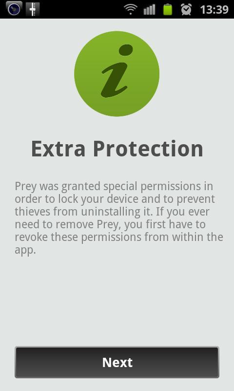 Diebstahlsicherung mit Prey