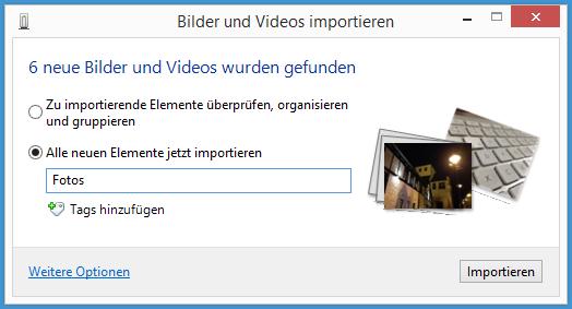 iOS-Fotos auf Windows 8 überspielen