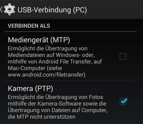 USB-Verbindung