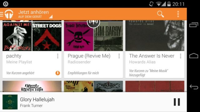 Google Play Music Android App