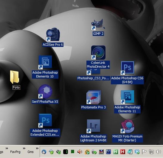 Icons organisieren