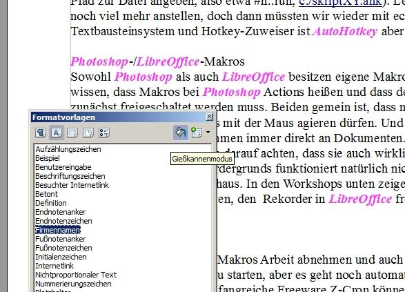 OpenOffice-Formatvorlagen