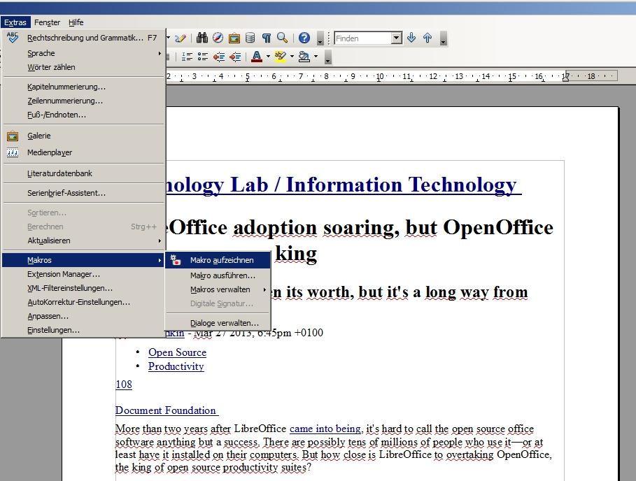 OpenOffice-Makros