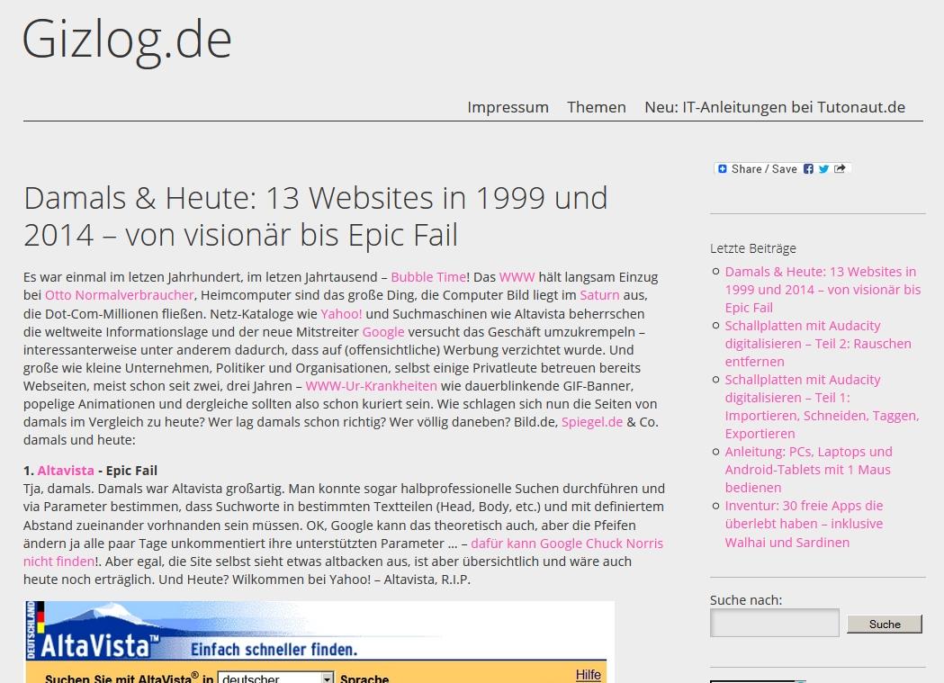 Wordpress-Datum