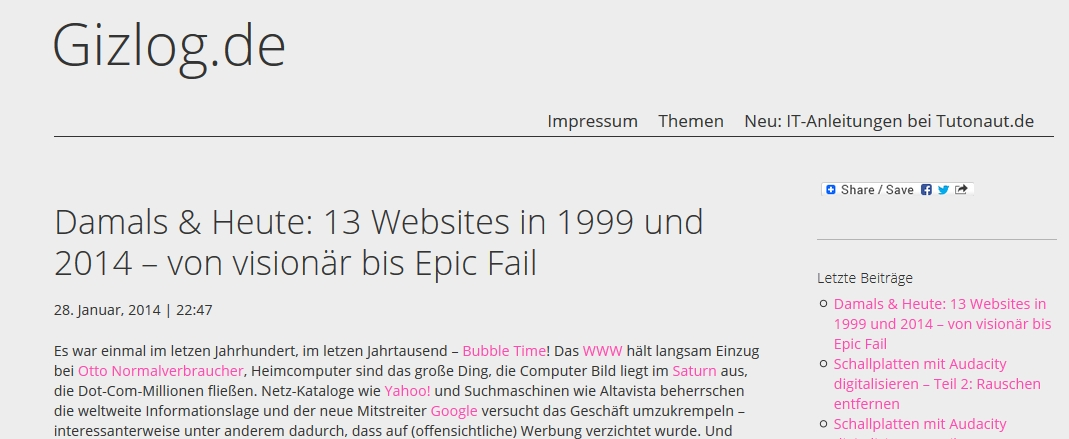Wordpress-Datum