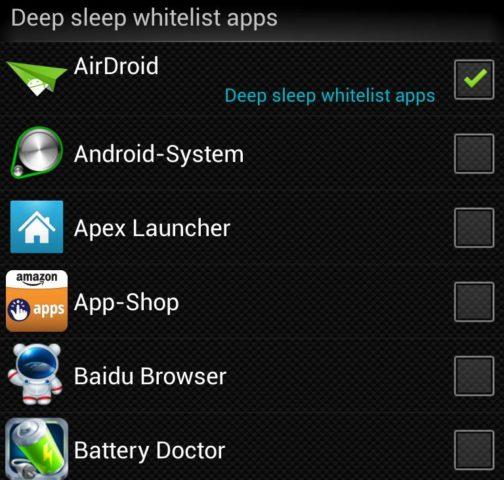 Akkulaufzeit Android