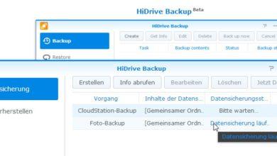 Bild von Anleitung: Backup von der Synology-NAS auf Strato HiDrive erstellen