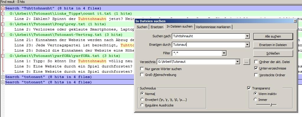Ersetzen von Zeichenfolgen geht mit Notepad++ auch im Batch-Modus.
