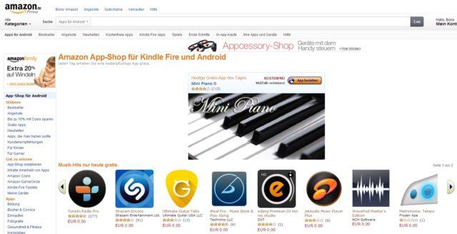 Für Musik-Fans lohnt sich der Abstecher in den Amazon App Shop heute ganz besonders