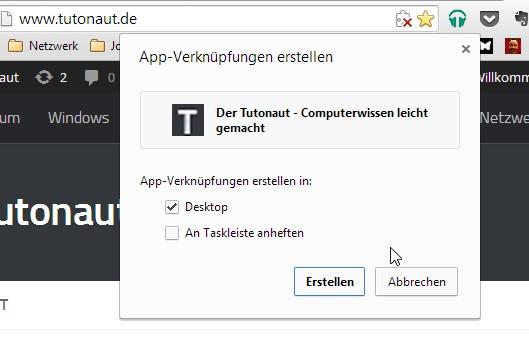 Google Chrome macht es einfach, jede beliebige Webseite wie ein separates Programm zu nutzen