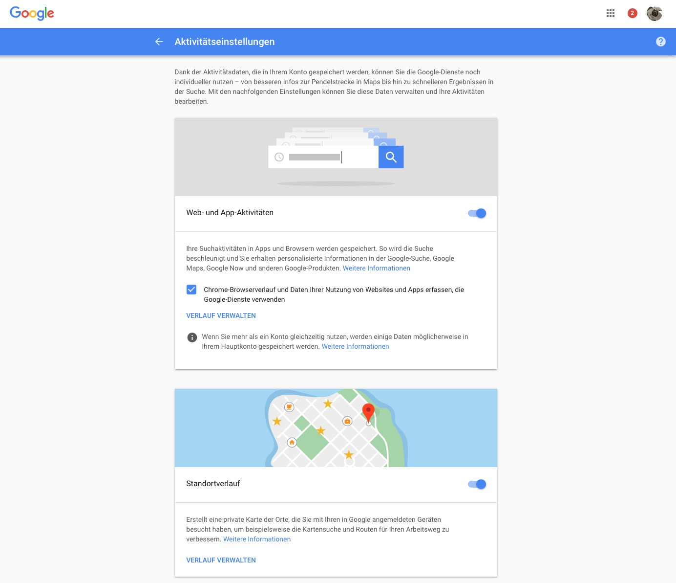 Kleine Schalter, große Wirkung: Google spioniert deutlich weniger.