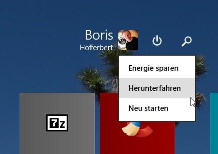 Das Herunterfahren von Windows 8.1 wird mit dem Update 1 ein gutes Stück intuitiver