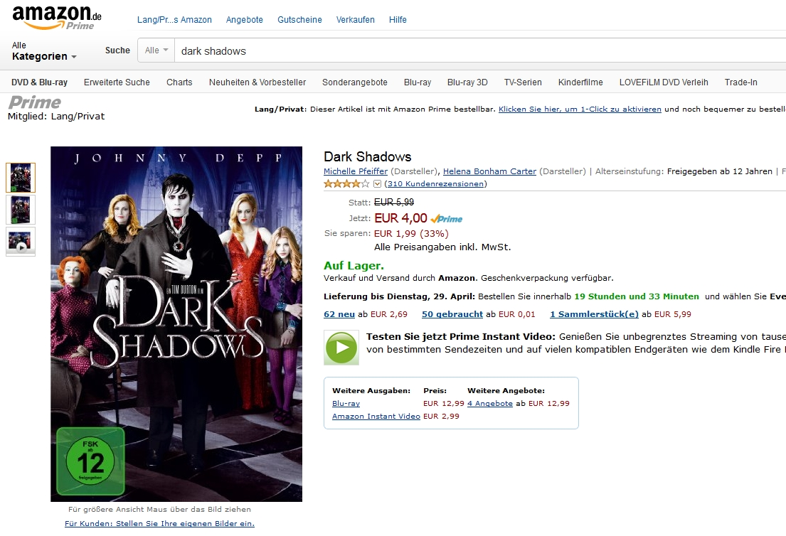 amazon prime instant video dark shadows