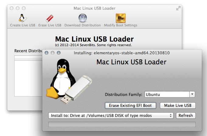 Step 1: Confirm partitions before inserting USB
