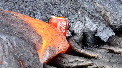 Bild von Tutobizarr: Coladose vs. Lava