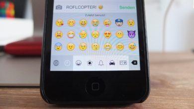 iOS erlaubt die Aktivierung von Emoji-Icons.