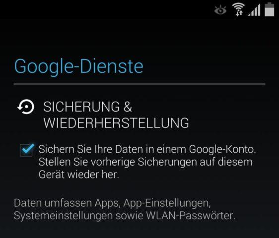 Samsung_Einrichten_5 Google Sicherung