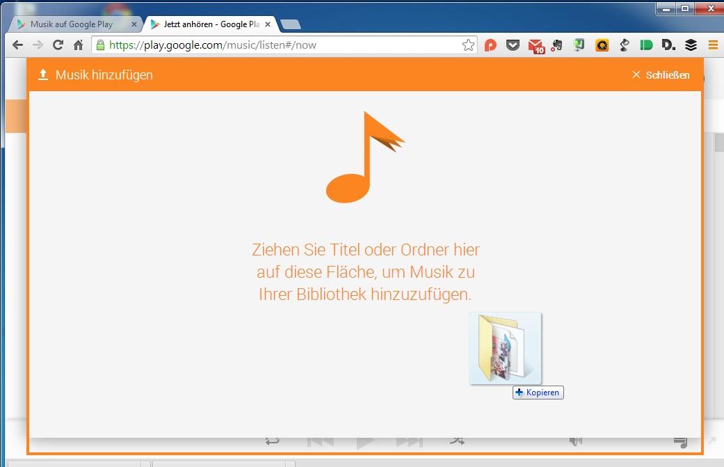 Songs Per Drag & Drop Zu Google Play Music Hochladen • Der