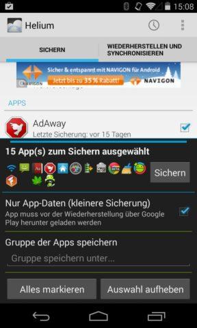 WS_Android zurücksetzen 1