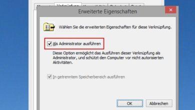 Bild von Programme unter Windows immer als Administrator starten