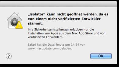 Bild von Anleitung: Gatekeeper und Warnmeldungen am Mac abschalten