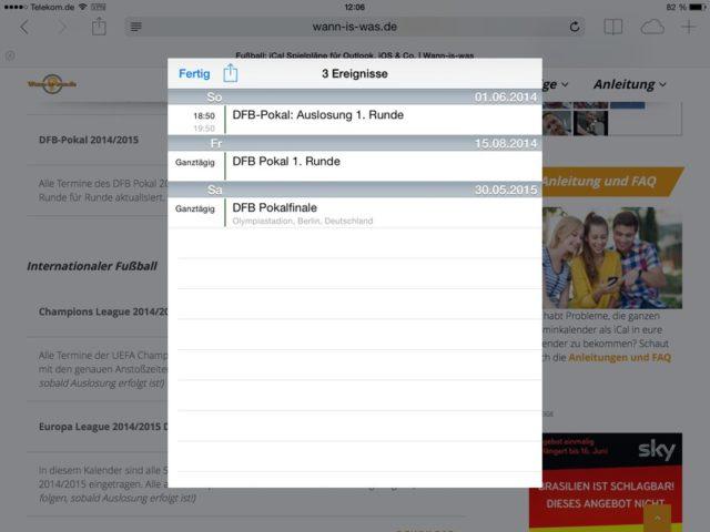 Auch der Google-Kalender lässt sich über Wann-is-Was komfortabel mit Terminen füllen