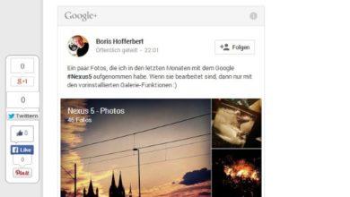 Bild von Beiträge von Google+ auf Webseiten und Blogs einbinden