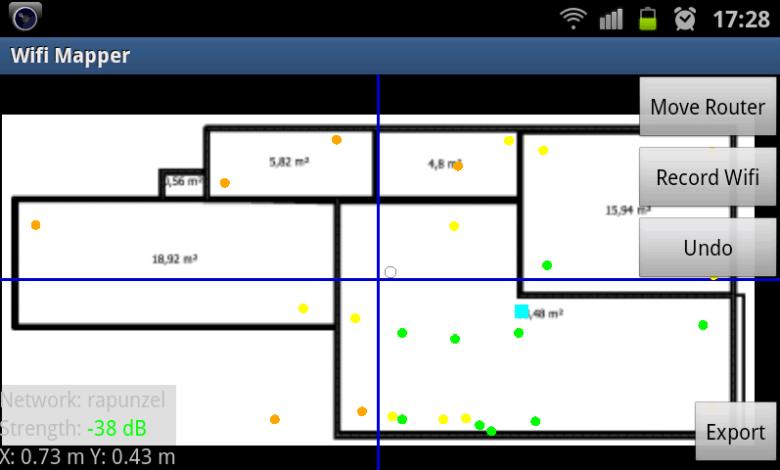 Bild von Anleitung: WLAN-Empfang mit Android als Heatmap visualisieren