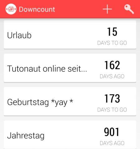 Fair: Auch in der kostenlosen Version von DownCount könnt Ihr soviele Countdowns anlegen, wie Ihr wollt