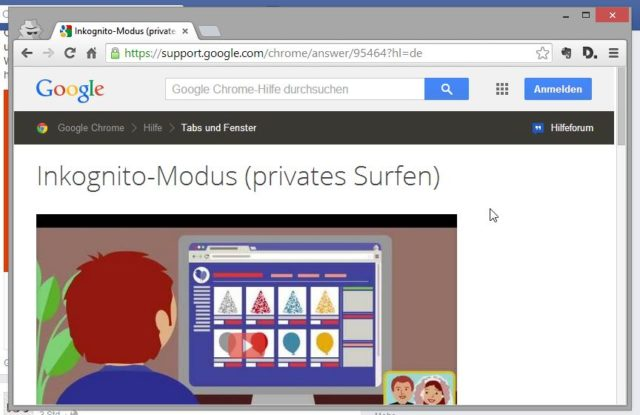 Surfspuren Google Chrome