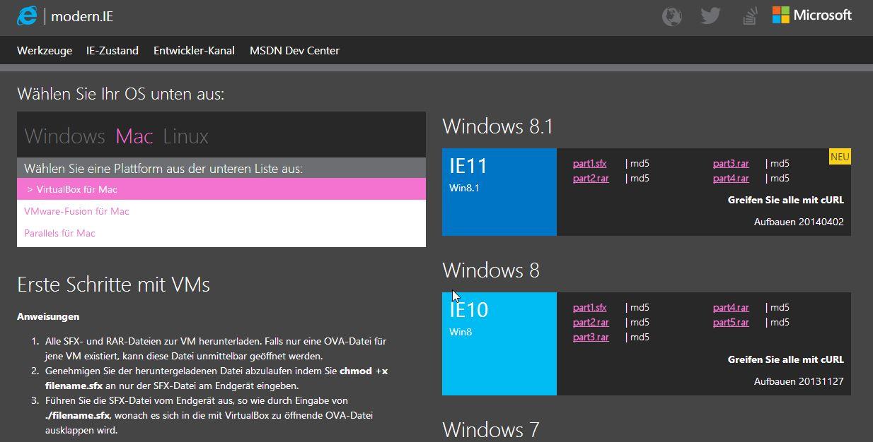 Feiner Service: Ihr bekommt die virtuellen Windows-Installationen von Microsoft für so ziemliche jede Virtualisierungslösung