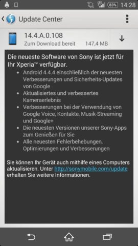 Sony Android Update