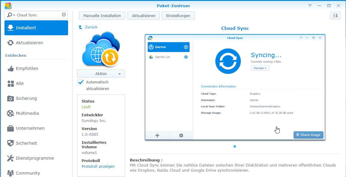 Anleitung: Dropbox und Google Drive mit Synology-NAS synchronisieren