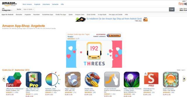 Unter den kostenlosen Android-Apps im Amazon Apps Store finden sich einige echte Highlights