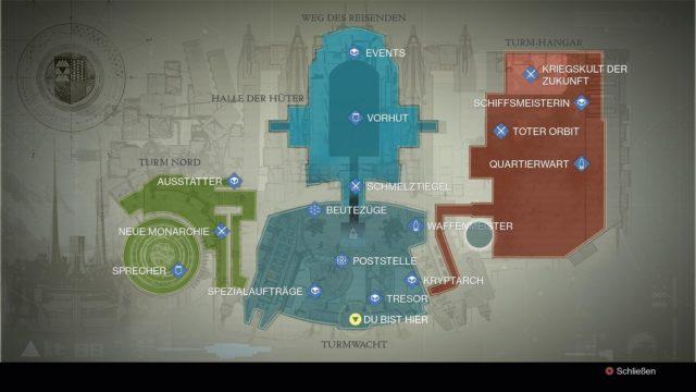 Der Turm der Hüter bietet einen Haufen Shops, aber leider auch wenig Abwechslung und lange Laufwege