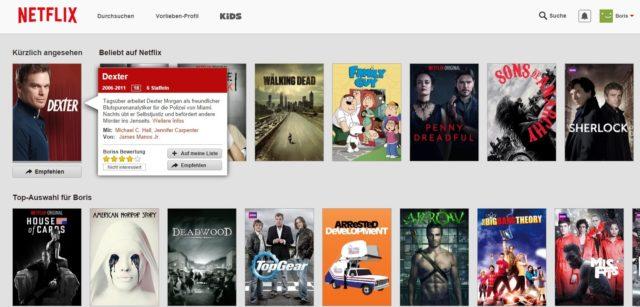 Das Anbgebot von Netflix macht einen guten ersten Eindruck, wenn es auch teilweise lückenhaft wirkt