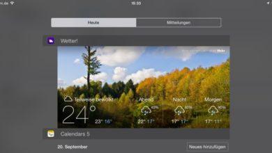 Bild von Widgets unter iOS auf dem iPad und iPhone einsetzen