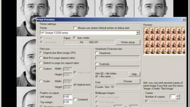 Bild von Anleitung: Passbilder zum Ausschneiden ausdrucken – IrfanView