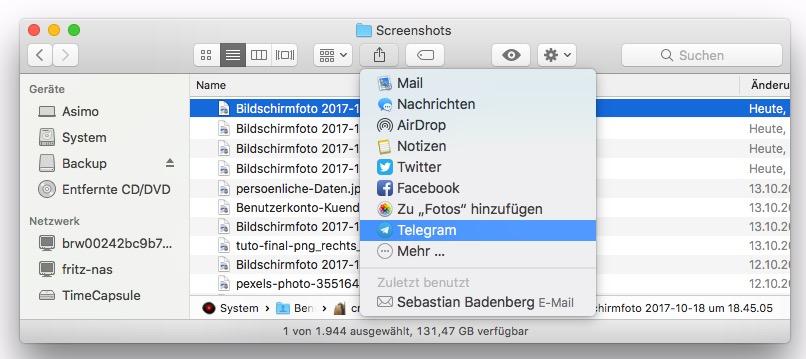 Das Teilen-Menü ist fast in jeder Mac-App zu finden und bietet eine schnelle Möglichkeit, Inhalte zu übergeben.