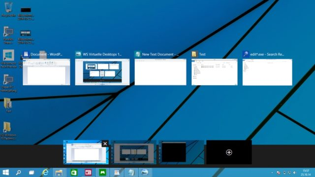 virtuelle desktops task view windows 10