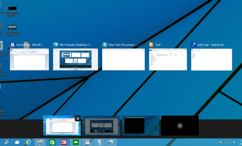 virtuelle desktops task view windows 10