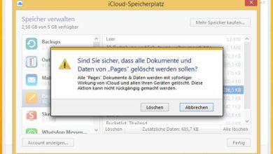Bild von Speicherplatz in der iCloud mit Mac oder Windows freigeben