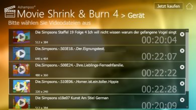 Photo of Gewinnspiel: 5x das brandneue Ashampoo Movie Shrink & Burn 4 gewinnen