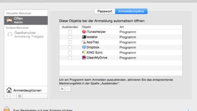 Bild von Programme unter Mac OS X automatisch starten