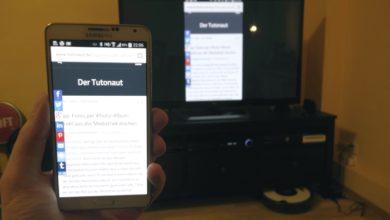 Bild von Smartphone-Bildschirm auf den Fernseher übertragen